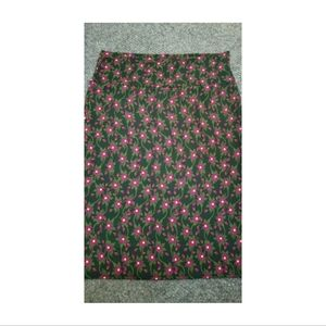 Lularoe Cassie Pencil Skirt in Jewel Tone Floral